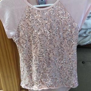 Other - Floral Sequin Top